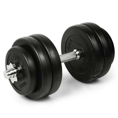Dumbbell Bar 6 Free Weights 15 Kg Home Gym Equipment 2 Spinlock Collars Heavy