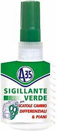 A35 SIGILLANTE VERDE AUTOLIVELLANTE PER SCATOLE CAMBIO DIFFERENZIALI PIANI 50ml
