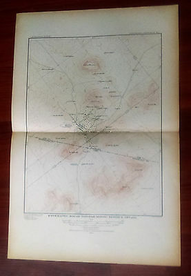 1904 Topographic Map of Tonopah Mining District Nevada Survey by W.J. Peters