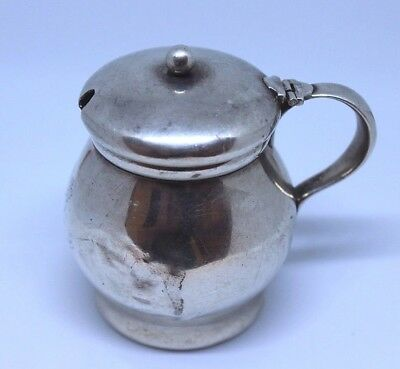 Vintage Tiffany And Co Sterling Silver Mustard Pot