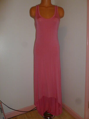 93fa6848995a2 Victoria's Secret S small coral stretch racer-back high low maxi dress