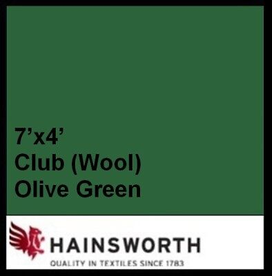 7ft ENGLISH GREEN Hainsworth Elite-Pro Pool Table Cloth