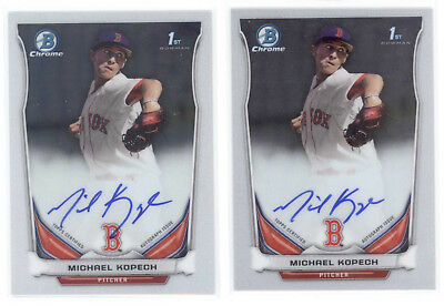 2014 Bowman Chrome Michael Kopech Auto (Lot of 2)