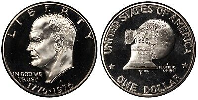 1975 S Proof Eisenhower Dollar , CLAD C/N , Deep Cameo , FREE SHIPPING!