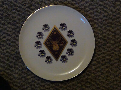 Elks, R.O.O.P., 1915 - 1975 Plate w/ 22 K Gold + Our Favorites, Elkettes Cookbk