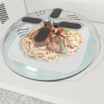 Microwave Hover Anti-Sputtering Cover with Steam Vents Food Splatter Guard Tool
