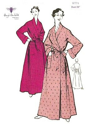 """1950's Vintage Sewing Pattern Women's Dressing Gown Robe House Coat Bust 38"""""""