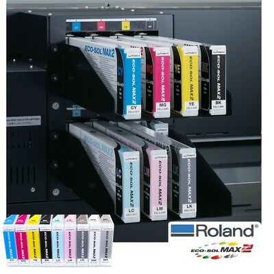 Roland Eco-Sol MAX2 Ink 440ml New Original Factory Sealed CYAN+ Same Day Ship