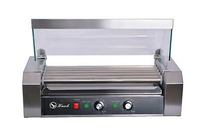 Hawk Commercial Hot Dog 5 Roller Grilling Machine With Cover