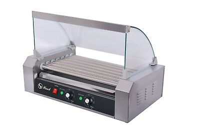Hawk Commercial Hot Dog 7 Roller With Cover