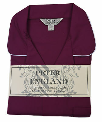 Peter England Plain Wine Pyjama