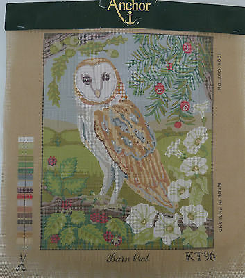 Anchor Printed Tapestry Canvas*barn Owl*poppies*