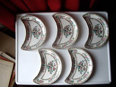 Vintage Keeling & Co Ltd  Losol Late Mayers Kidney Shape Indian Tree Plate x 5