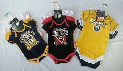 Wholesale Lot of NHL Sport Fan Baby Apparel Onsies New OVERSTOCK Manifested