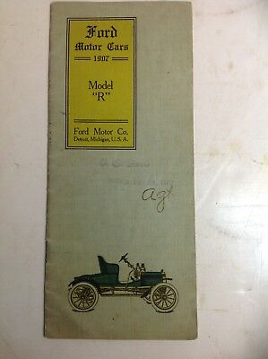 Vintage 1907 Ford Motor Car Brochure