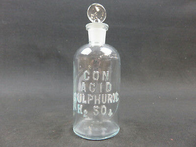 Concentrated acid sulphuric H2SO4 sulfuric embossed bottle T.C.W. Co. USA 7