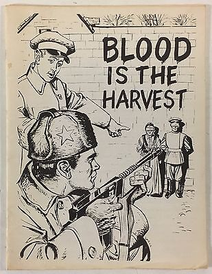 Blood Is The Harvest Comic Book 1979 B&W Reprint Limited Edition Esoteric Press