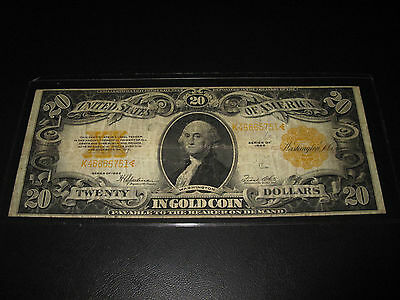 1922 $20 Gold Coin Note Gold Certificate - Speelman/White