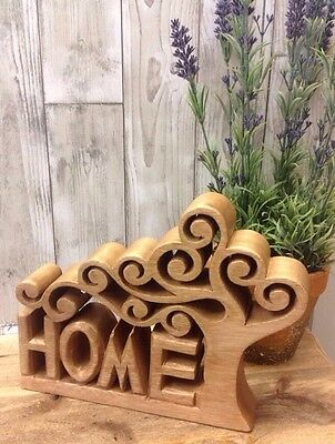 NEW WOODEN country HOME sign Decor GIFT Brown Vintage Style Ornament