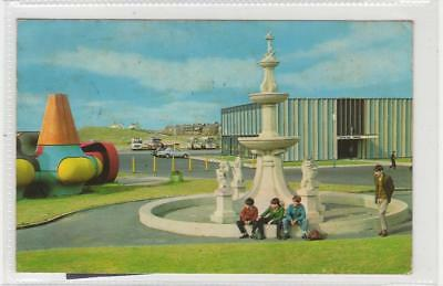 "THE ""FIFTH DIMENSION"" AND BEACH PAVILION, GIRVAN: Ayrshire postcard (C29889)"
