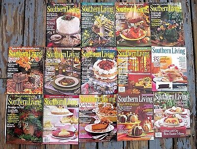 LOT SOUTHERN LIVING MAGAZINES~$2.30 per issue~must buy all 14~1990s 2000s