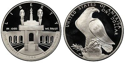 "1984 S PROOF ""Olympic"" Commemorative Dollar , 90% Silver,  Deep Cameo!"