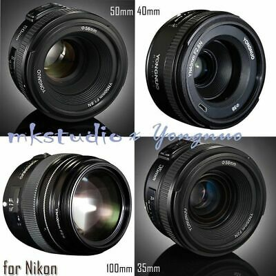 Yongnuo YN 100mm 50mm 40mm 35mm EF MF / AF Prime Fixed Lens for Nikon D800 D90