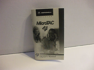 Motorola Microtac Cell Phone Owners Manual Booklet