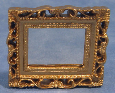 1:12 Scale Ornate Gilt Mirror Doll House Miniatures