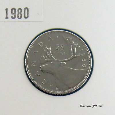 1980 Canada 25 Cents Specimen From Set