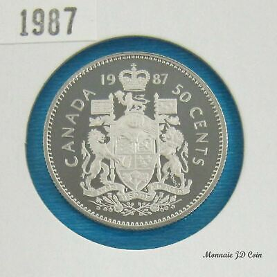 1987  Canada 50 Cent Proof Ultra Heavy Cameo  From Set