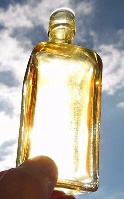 """Wheaton Gold Colored 5 1/2"""" Bottle- 'antique Reproduction' Have A Look Here!-Euc"""