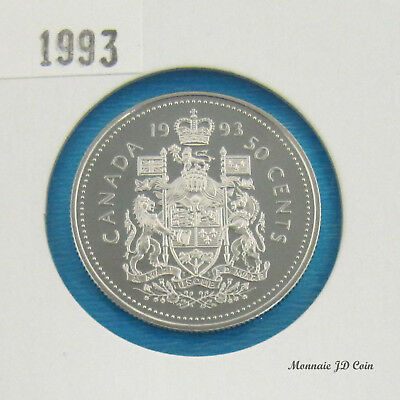 1993  Canada 50 Cent Proof Ultra Heavy Cameo  From Set