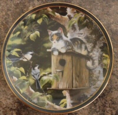 "Bradford Exchange ""House Sitting"" By Persis Weirs ""Nosy Neighbors Collection"