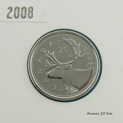 2008  Canada 25 Cent Proof Like From Set