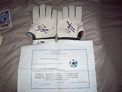 Alex McCarthy signed gloves with COA