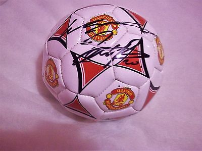 Wayne Rooney And Robin Van Persie Signed Mini Football.