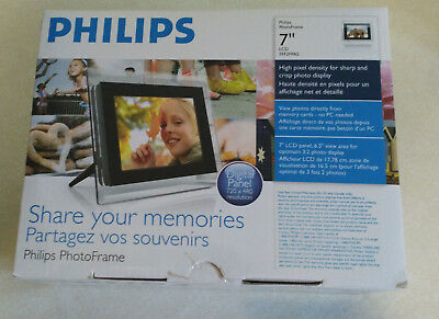 Philips 7-Inch LCD Panel Digital PhotoFrame -Clear Acrylic Panel Never Used!