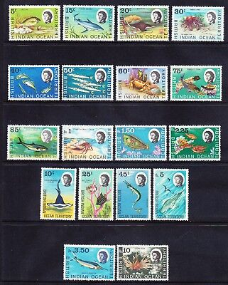 BRITISH INDIAN OCEAN TERRITORY QEII 1968 SG16/30 set of 18 - u/m. Cat £65