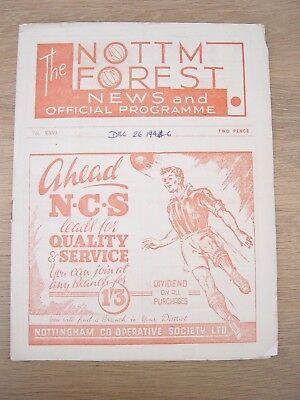 1946/47 Nottingham Forest V Burnley