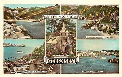 s10135 Multiview, Guernsey postcard unposted