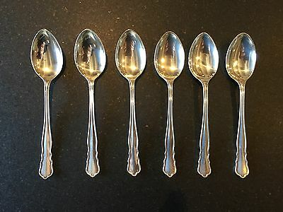 Antique William Hutton & Sons Ltd c.1892 Sterling Silver 6 Demitasse Spoons
