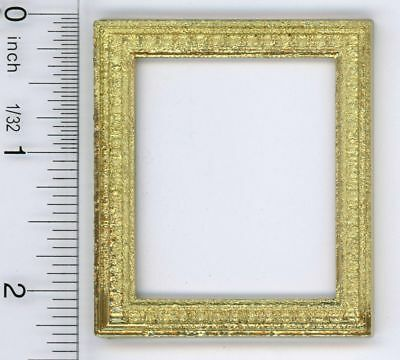 Dollhouse Miniature Pretty Gold Picture Frame by Jacquelines