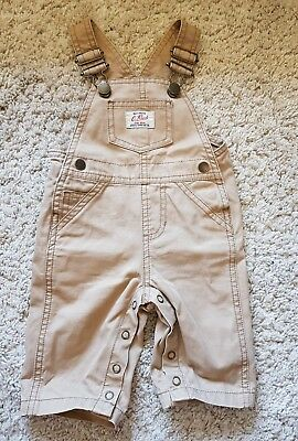 Country Road baby boys denim overalls camel size 3-6MTHS