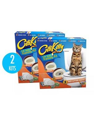 2x CitiKitty Cat Toilet Training Kit Specially Designed Training Seat, Brand New
