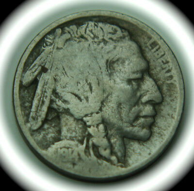 1914-S Buffalo Indian Head Five Cent Nickel - 5C - No Reserve!