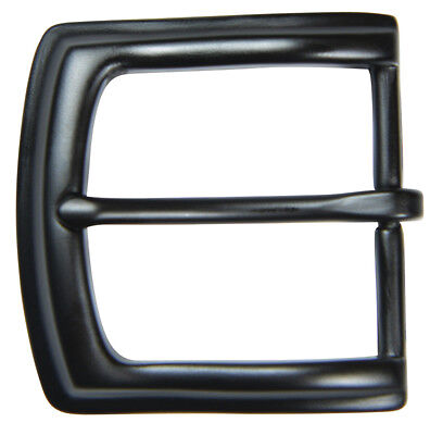 "Black Finish Pin Buckle for 1 1/2"" Belts - by The Belt Shoppe"