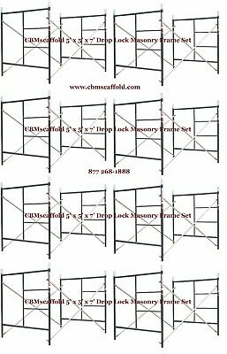 "8 SET of 5' X 5' X 7' Masonry BJ Drop Lock 1.69"" Scaffold Frame Set CBMscaffold"