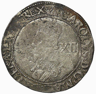 England Charles I Silver Shilling Tower Mint S.2797 Hammered Medieval Coin