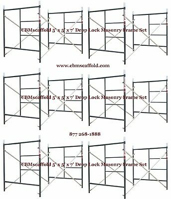 6 SET of 5' X 5' X 7' Masonry BJ Drop Lock Scaffold Frame Set CBM Scaffold